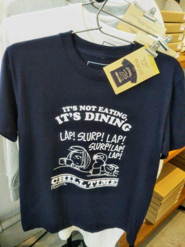 ピーナッツカフェのTシャツ