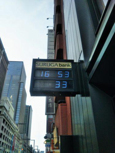 暑い!!夕方でもまだ33℃