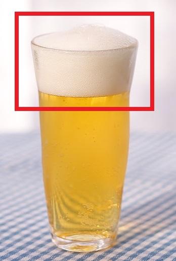 エスプーマの例えでビールの泡