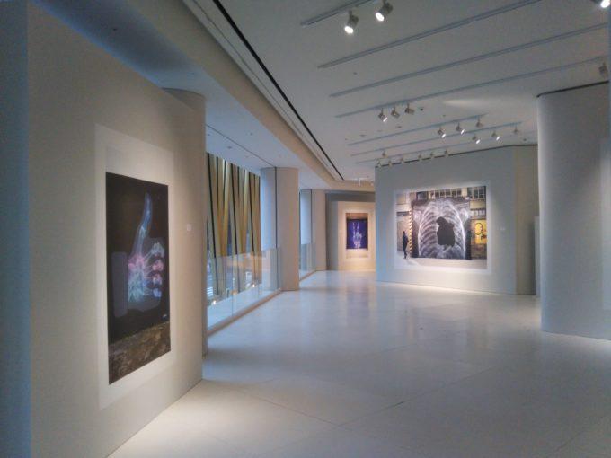 bally銀座SHOK-1の作品が壁沿いに展示されてます