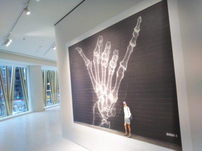 bally銀座SHOK-1の展示作品はアロハポーズ!?