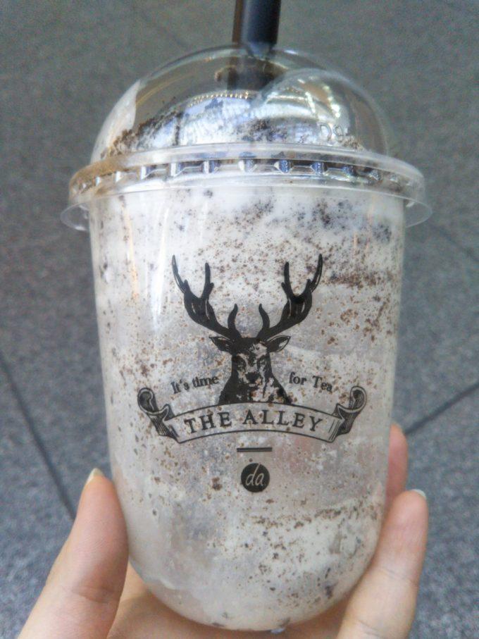 ジアレイ有楽町の盆栽タピオカミルクティーを飲んだ空容器