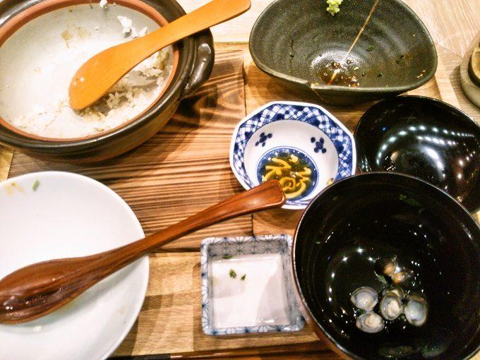 ごちそうさまでした!鯛土鍋ご飯完食【魚盛コレド室町テラス】