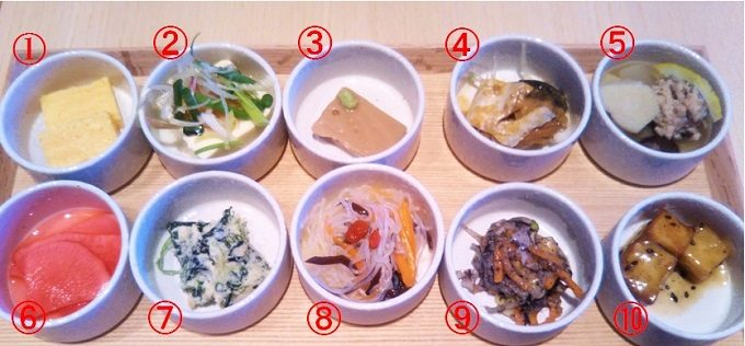 12種類入ったおばんさい御膳の中からまずは10種類から紹介!【神楽坂茶寮 渋谷スクランブルスクエア】